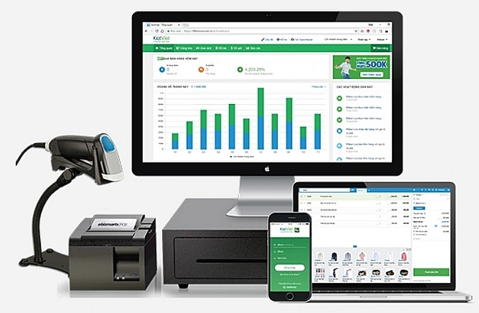 KiotViet provides a cloud-based POS solution for small and medium businesses in Vietnam, source: dantri.com.vn