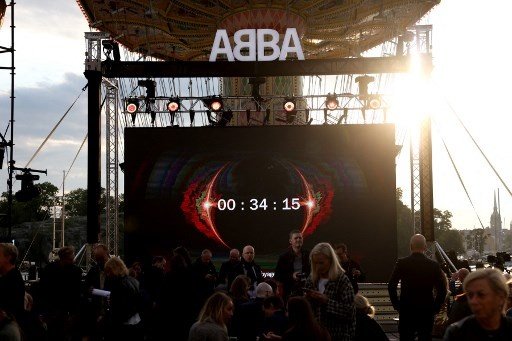 The countdown of Swedish group ABBA Voyage event is seen on September 2, 2021 on a display at Grona Lund, Stockholm, prior to the presentation of the first new song after nearly four decades. Fredrik PERSSON / TT News Agency / AFP