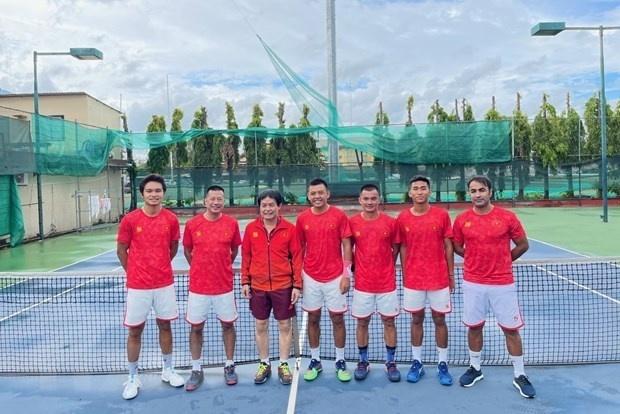 Members of the Vietnamese tennis team. (Source: VNA)