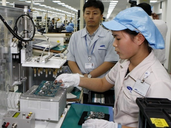 A mobile phone production line of Samsung Vietnam in Bac Ninh province (Photo: VNA)