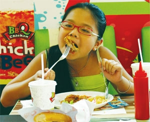 youth swallow up fast food