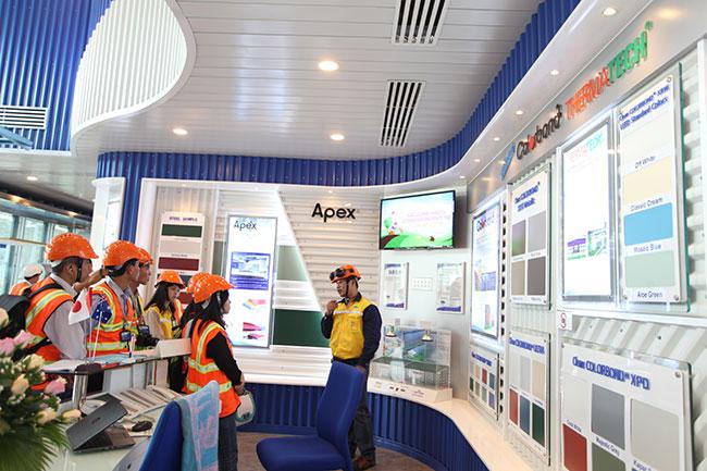 A close-up of NS BlueScope Vietnam $105 million modern plant