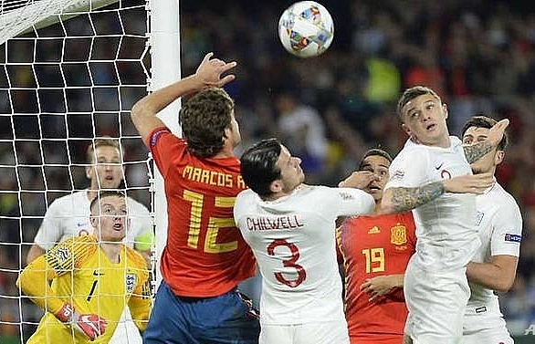 Sterling shines as England beat Spain in Nations League