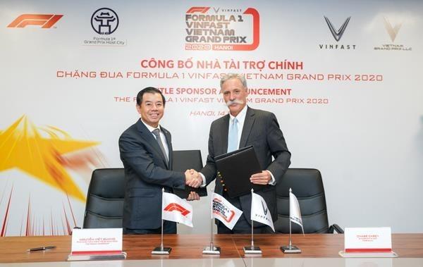 vinfast announced as f1 vietnam gps title sponsor
