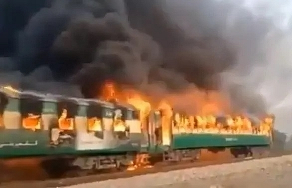 At least 71 killed, dozens injured after train fire in Pakistan caused by cooking accident
