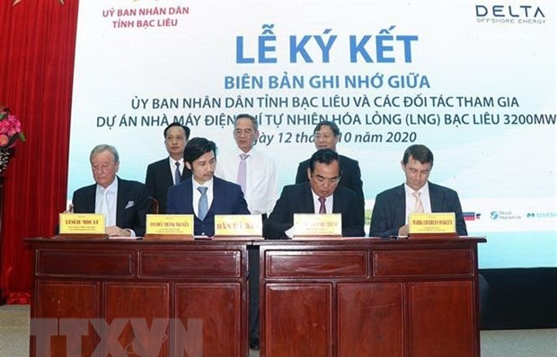 MoU inked for liquefied natural gas-fired power project in Bac Lieu
