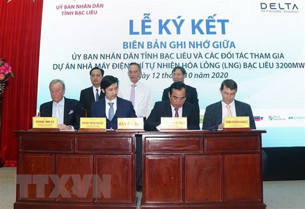 mou inked for liquefied natural gas fired power project in bac lieu