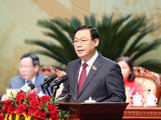 politburo member re elected hanoi party committee secretary