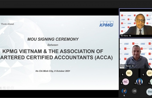 KPMG in Vietnam signs MoU with The Association of Chartered Certified Accountants