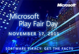 Microsoft Consumer Action Day 2011: Play Fair for a better growth