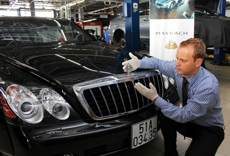 First class Maybach service clinic in 10 days for elite customers in Vietnam