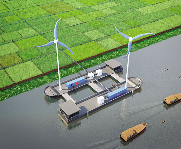 rent a port brings green energy to mekong delta