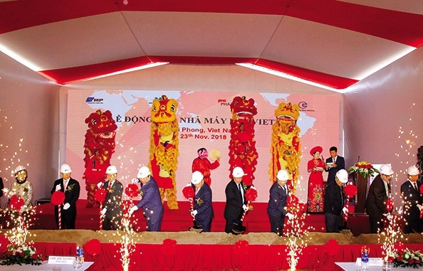 The flagship automotive plant cluster in Haiphong sees one step closer to reality
