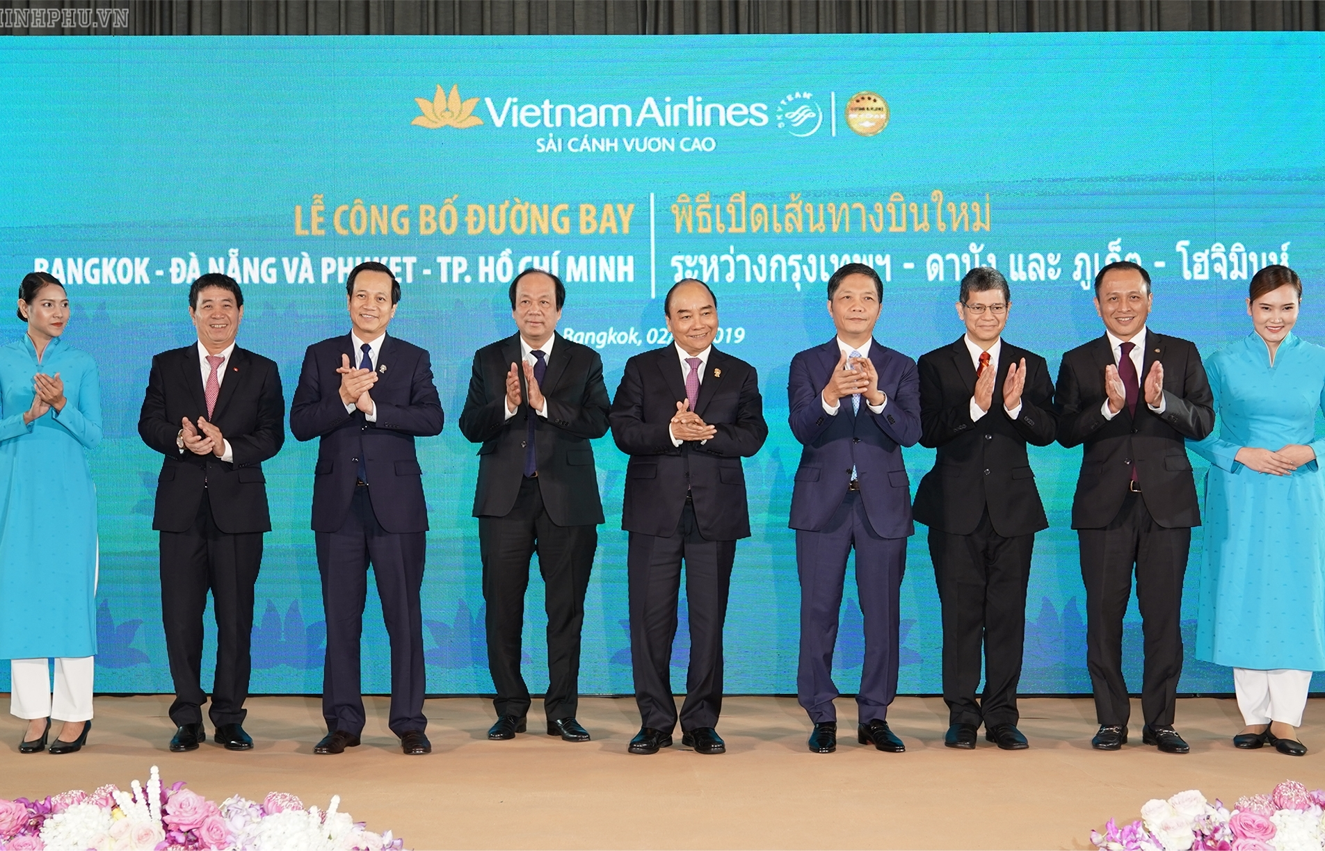 PM attends launching ceremonies for new air routes in Bangkok