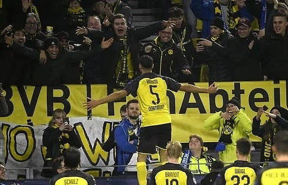 Hakimi double seals stunning Dortmund win over Inter Milan