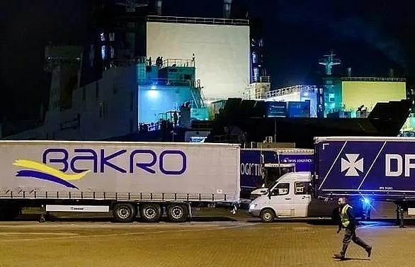 Migrants found alive in refrigerated truck on Dutch-UK ferry