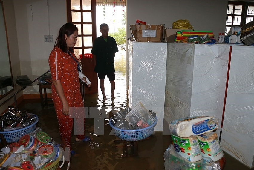 nghe an residents live submerged after floods