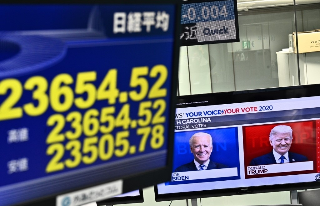Asian markets mixed after week-long rally, with eyes on US vote