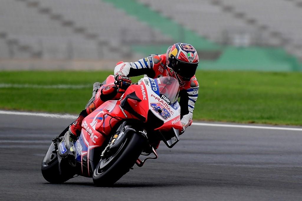 miller fastest in valencia motogp practice as mir crashes