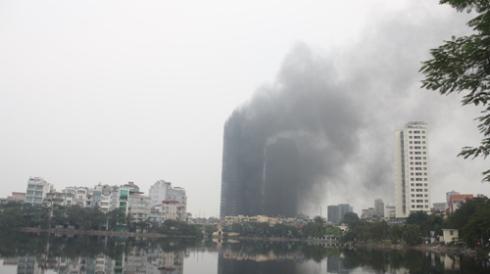 hanoi twin towers fire