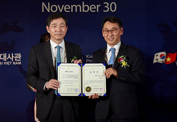 doosan vina receives csr award