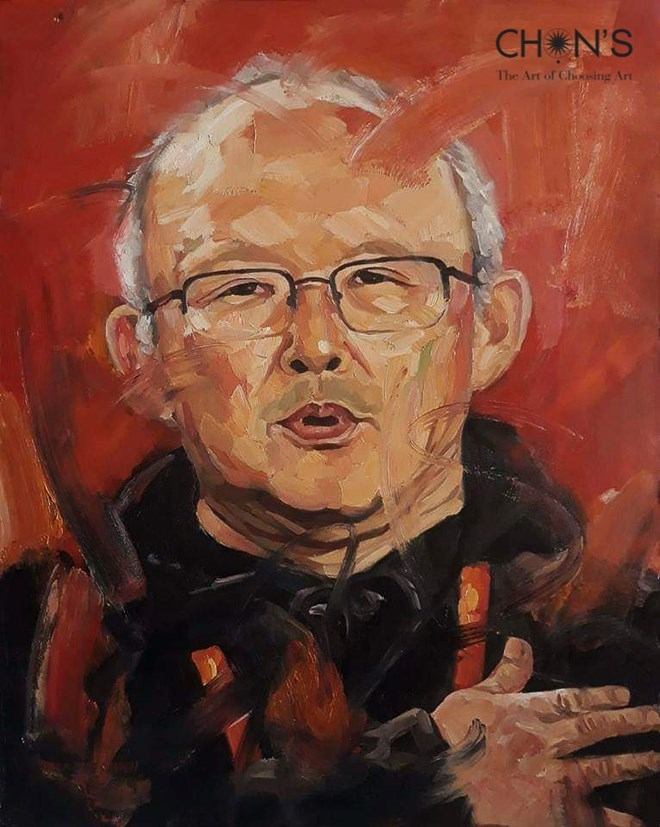 oil portrait of coach park hang seo to be auctioned