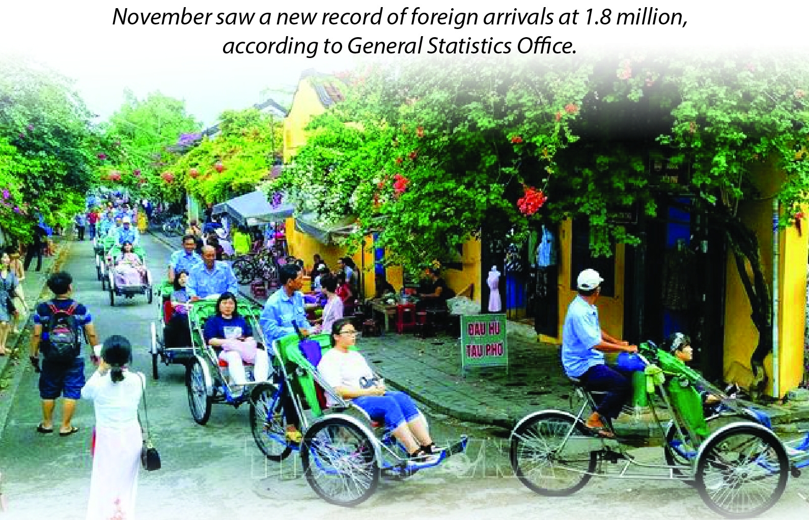 November sees record 1.8 million foreign arrivals (Infographics)