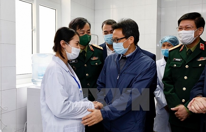 deputy pm visits first cases of clinical trials of covid 19 vaccine nano covax photos