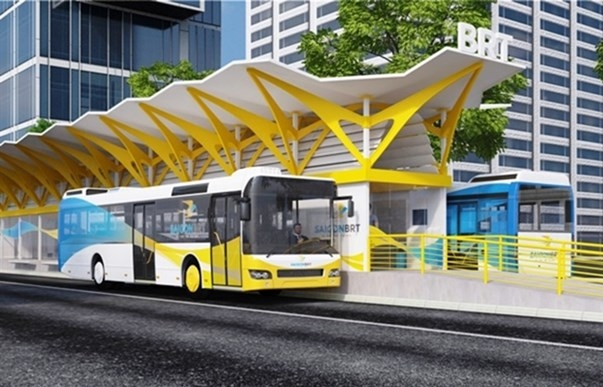 HCM City speeds up work on first bus rapid transit route