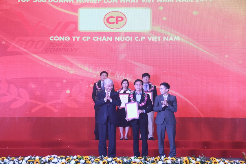 cp vietnam toasted as 18th largest company on vnr500