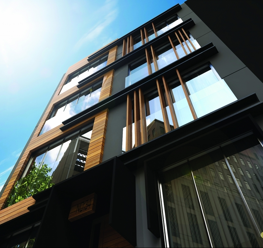 AkzoNobel combined the look of wood with the durability of metal