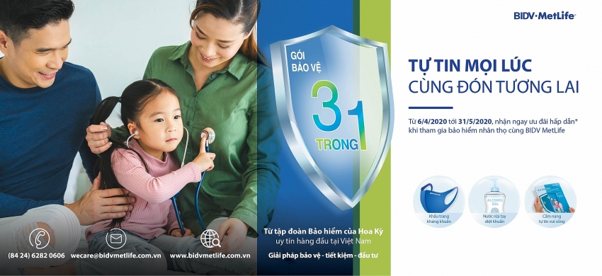 bidv metlife launches be confident all time lets welcome the future promotion