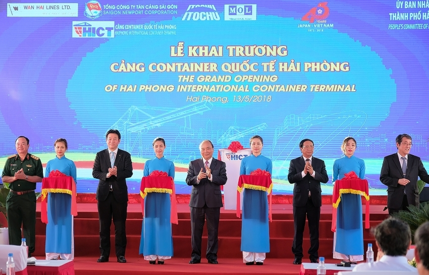 Haiphong International Container Terminal welcomes first vessel