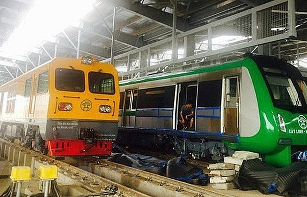 Cat Linh-Hadong elevated railway to go into trial operation in August