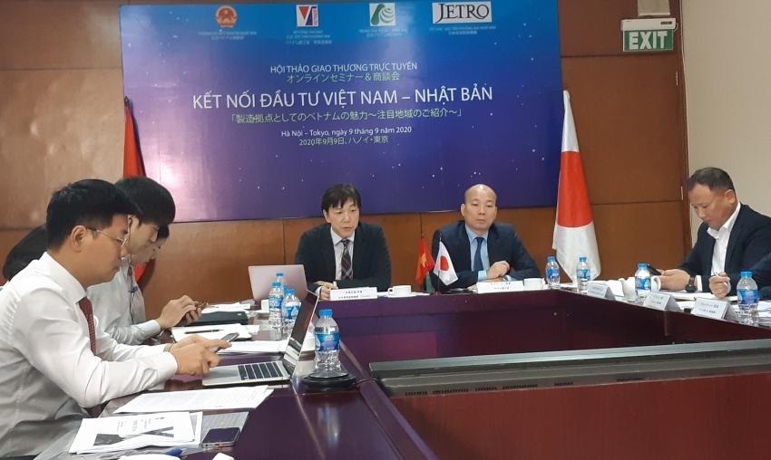 Japanese enterprises work with provinces in Vietnam via webminar