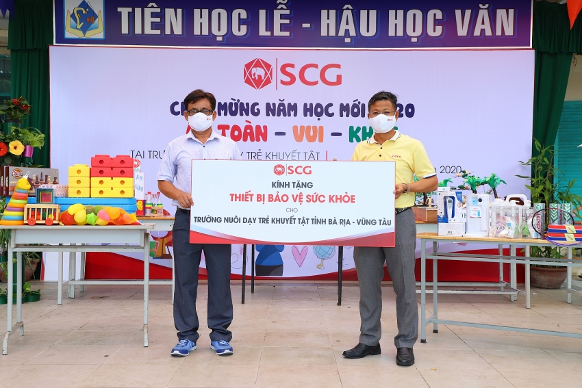 scg brings safe and healthy new year to ba ria vung tau school for disabled children