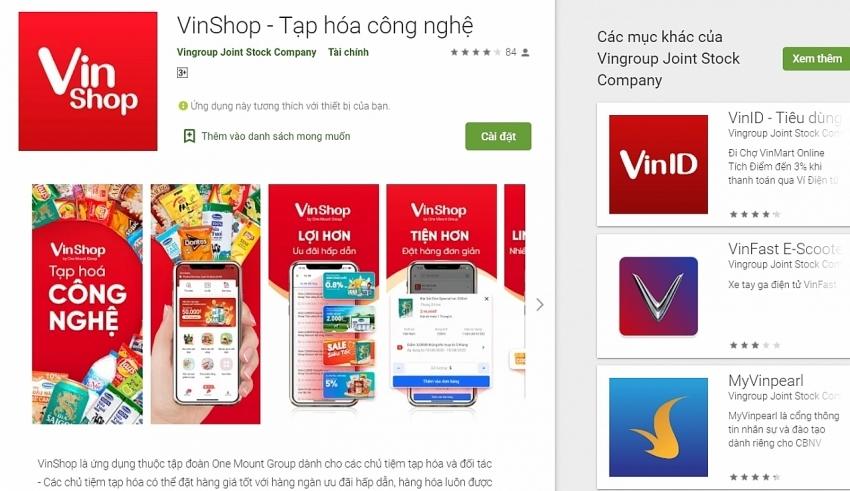 Vingroup issues e-commerce app for groceries