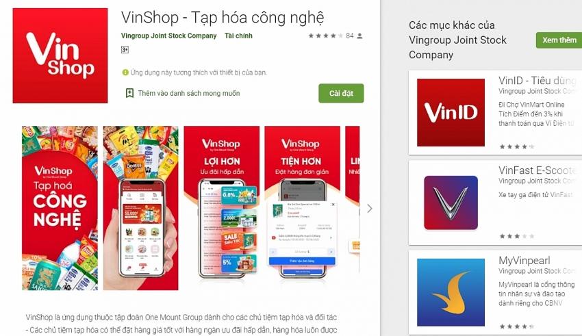 vingroup issues e commerce app for groceries