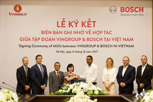Vingroup shakes hands with Bosch Vietnam