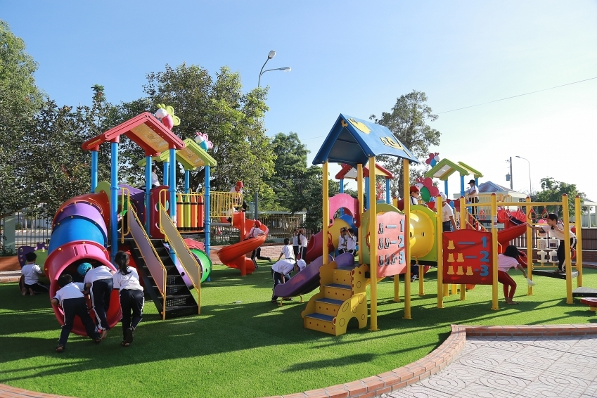 SCG builds high-quality playgrounds for children in Ba Ria-Vung Tau