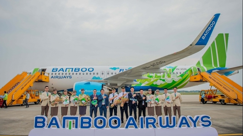 """Bamboo Airways welcomes first Airbus A320neo aircraft in """"Fly Green"""" livery"""