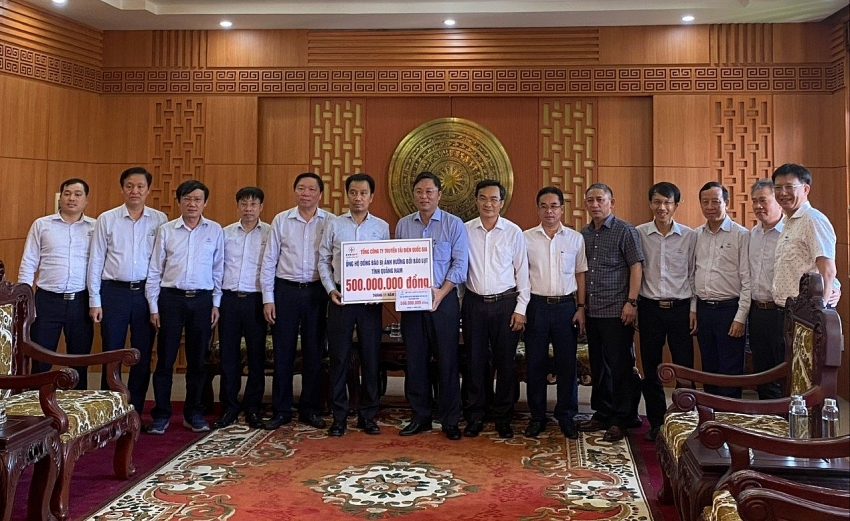evnnpt donates 43480 to disaster stricken locals of quang nam and quang ngai