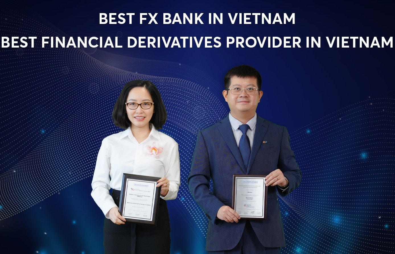 MB awarded titles of Best FX Bank and Best Financial Derivatives Provider in Vietnam
