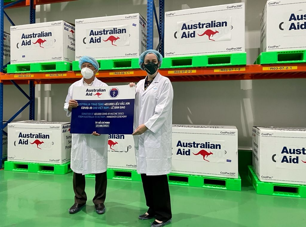 First vaccine shipment from Australia arrives in Vietnam