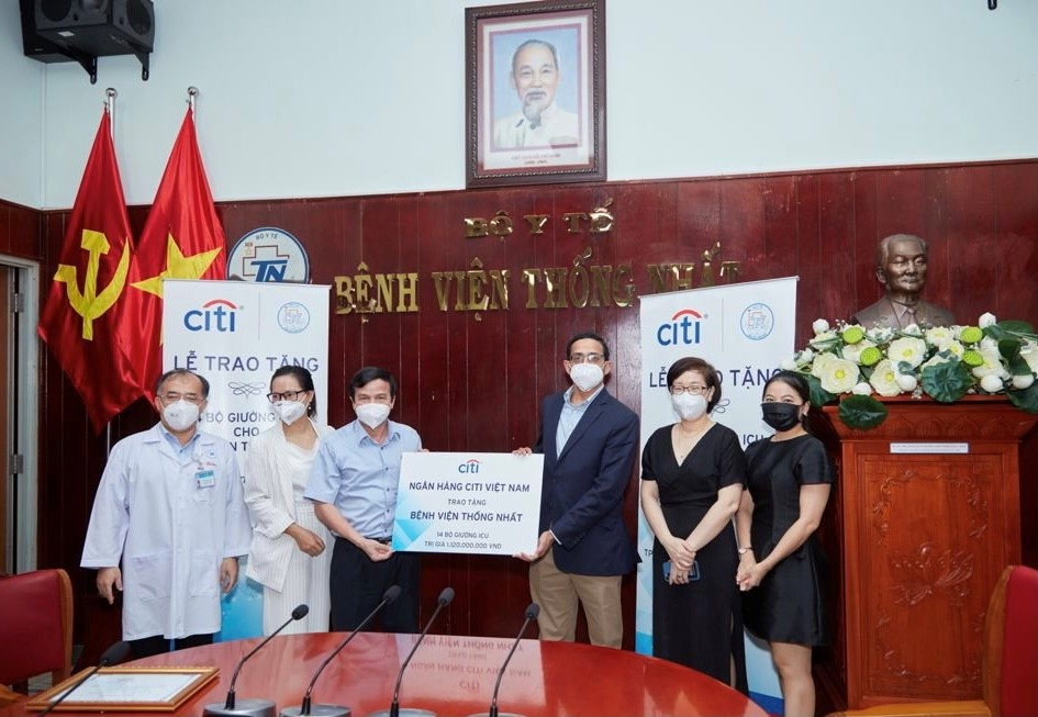 Citi Vietnam donates 14 ICU beds to Thong Nhat Hospital  to support COVID-19 treatment
