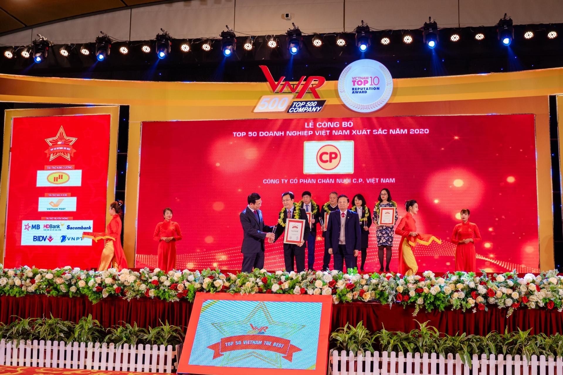 C.P. Vietnam in 50 best enterprises