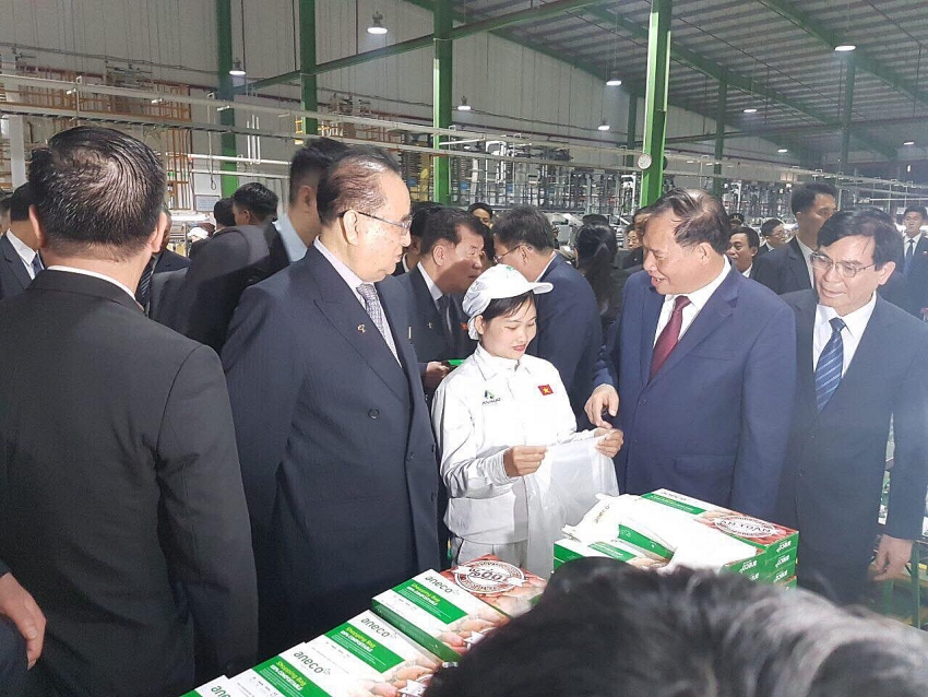 high level delegation of dprk visiting an phat plastic factory