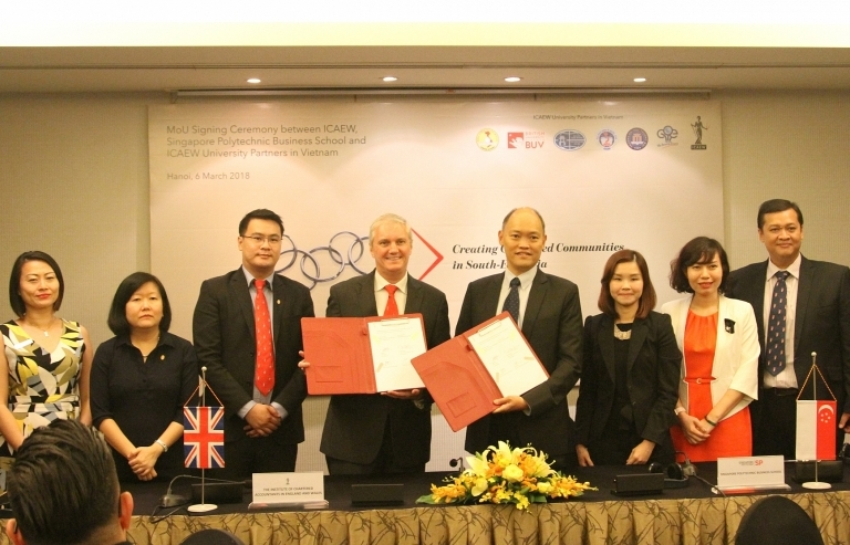 ICAEW signs university exchange programme with Singapore and Vietnam