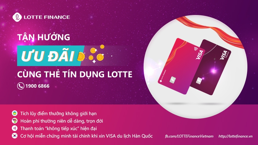 LOTTE Finance launches credit cards with annual fee cashback for life