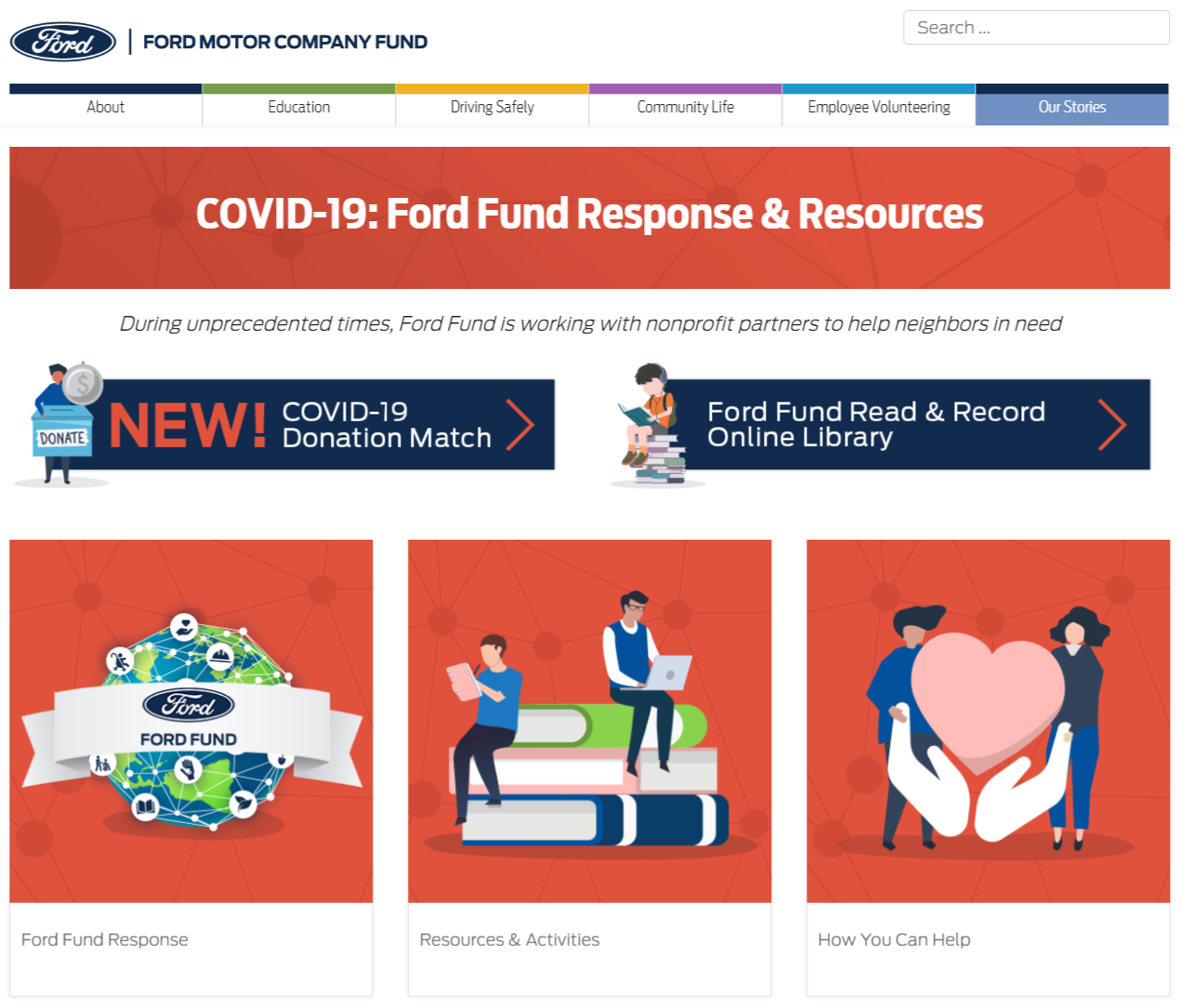 Ford announces donation match, opening opportunities to join fight against COVID-19